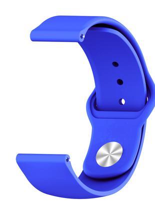 Ремешок BeWatch силиконовый 22 мм для часов универсальный Сини...