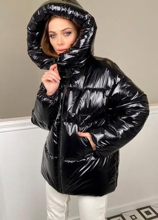 Куртка пуховик до - 25 зимний оверсайз на плащевке монклер.