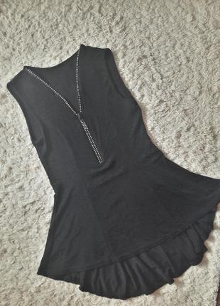 Майка блузка туника с баской