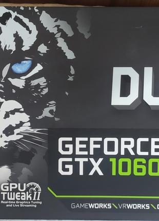 Видеокарта GTX 1060 6gb Asus Dual