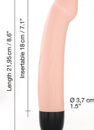 Вибратор Dorcel Real Vibration M Flesh 2.0, диаметр 3,7см, пер...
