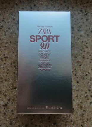Zara edt sport 9.0 100 ml туалетная вода
