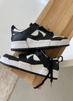 Кроссовки черные с белым nike dunk
