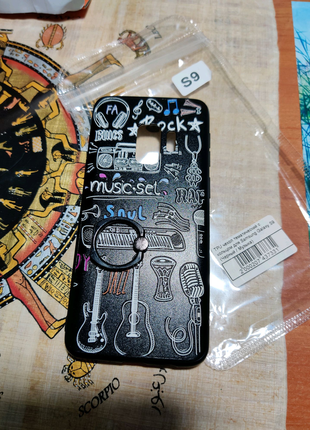 TPU чехол тематический с кольцом для Samsung Galaxy S9