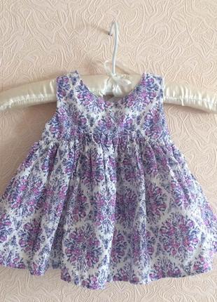 Платье летнее для девочки 8-11 месяцев
