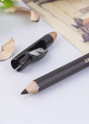 Коричневый карандаш для бровей + точилка