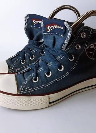 Кеды детские converse marvel superman