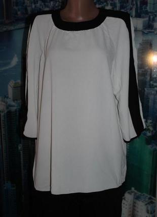 Блуза с шифоновими лампасами