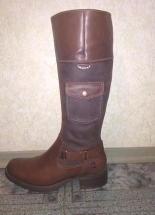 Женские кожаные демисезонные сапоги Timberland 41 размер