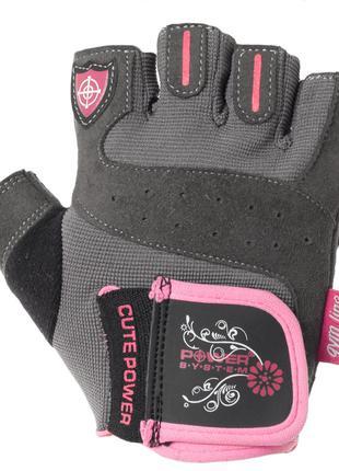 Перчатки для фитнеса и тяжелой атлетики Power System Cute Powe...