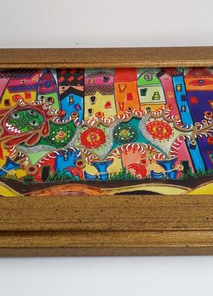 Панно-сувенир «Чужое в городе»