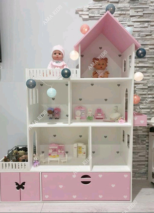 Домик для кукол, дитячий будиночок для ляльок, домик для девочки