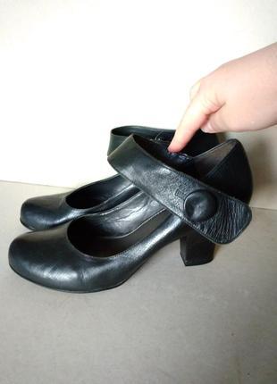 Удобные комфортные устойчивые кожаные черные туфли мешти р. 7 ...
