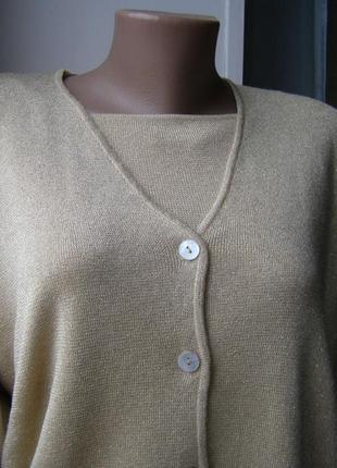 Marlena cho  нарядный комплект кофта+кардиган  xxl-xxxl размер