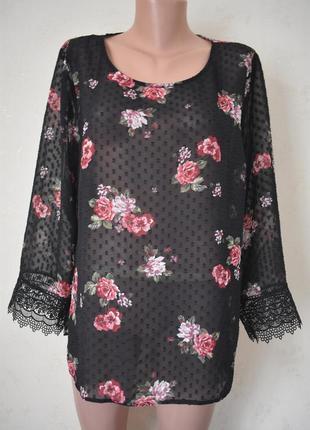Красивая блуза с принтом большого размера