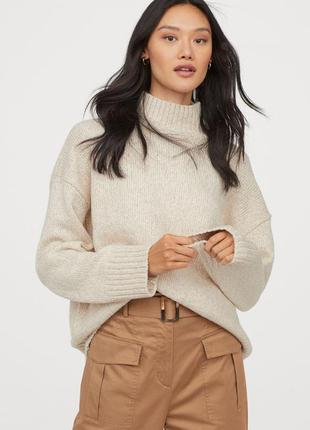 Тёплый свитер оверсайз h&m зима 2020
