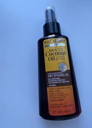 Сухое масло для укладки волос hydrating coconut oil and shea b...