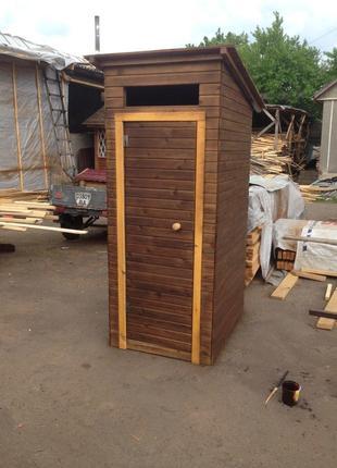 Туалет деревянный разборный коричневый