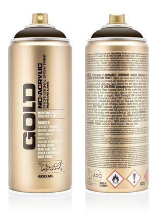 Краска Montana Gold S8020 Темно-коричневый шок 400 мл (Brown D...