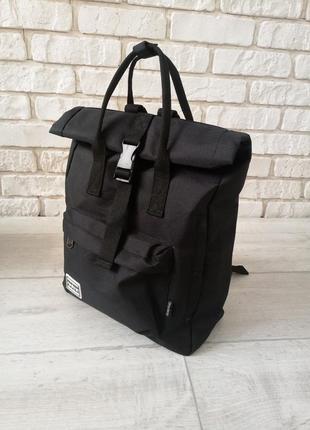 🔥🔥🔥 рюкзак роллтоп унисекс черный