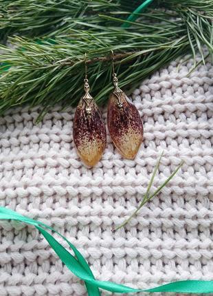 Серьги ручной работы лилия
