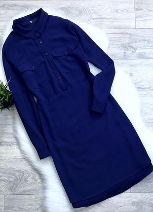 Платье рубашка приталенное