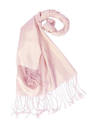 Палантин светло-розовый из тонкого кашемира