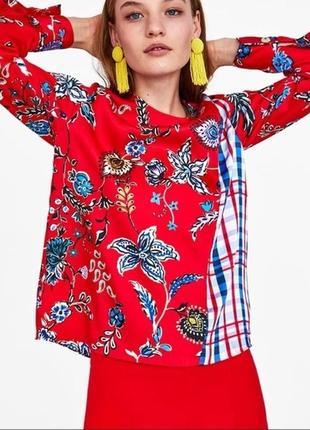 Блуза атласная zara