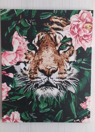 Картина на холсте 40x50 Тигр