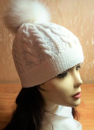 """Комплект """"Аляска"""" ручной работы (шапка, шарф-хомут и варежки)"""