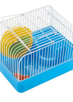Клетка AnimAll Cube для хомяка 23.2x17х12 см, голубая