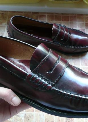 Мужские туфли мокасины artesania кожа