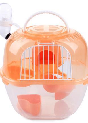 Клетка AnimAll Apple Style для хомяка, 20.5х18х22.5 см, оранжевая