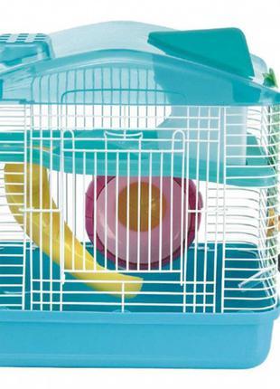 Клетка для хомяка AnimAll P-679, 28.5×19.5×27 см, бирюзовая