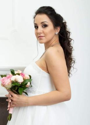 Свадебный макияж+укладка