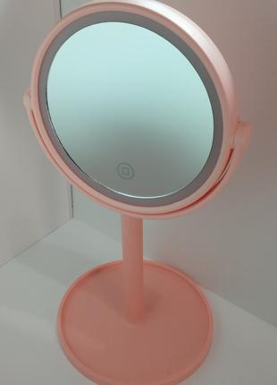 Косметическое зеркало с подсветкой и аккумулятором LED MIRROR ...