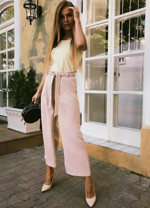 Широкие брюки кюлоты с поясом miss selfridge
