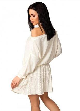 Костюм cotton юбка+джемпер вязаный vanilla custard 2020