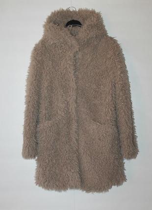 Zara basic outwear шуба/пальто/эко мех /тедди/teddy zara