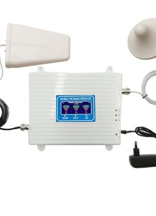 GSM DCS 3G 4G репитер, усилитель связи 900МГц 1800МГц WCDMA 21...