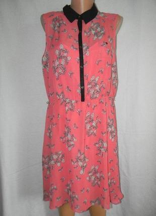 Новое платье с принтом бабочки