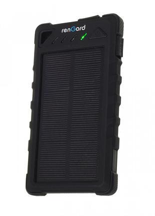Солнечный power bank внешний аккумулятор Rengard с солнечной б...