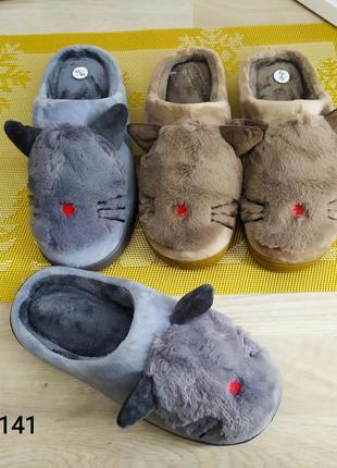 Тапочки для мальчика с котиками