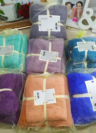 Подарочный набор полотенец из микрофибры баня + кухня