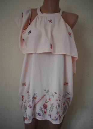 Блуза с вышивкой большого размера george
