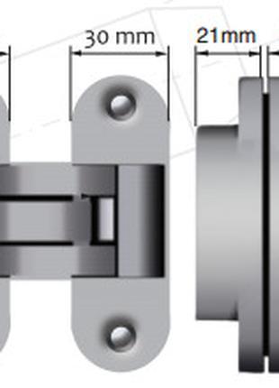 Скрытая петля для дверей OTLAV 90х30 дверные петли для дверей