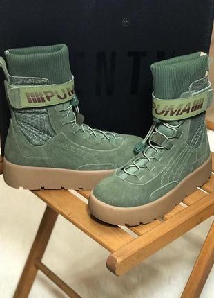 Женские высокие стильные сапоги/ботинки puma x fenty scuba boo...