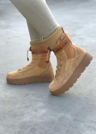 💝puma x fenty scuba boot beige💝женские высокие бежевые ботинки...