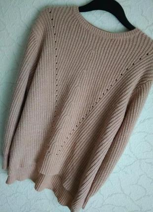 Мягкий, теплий,уютний свитер,цвета пудри от peacocks.