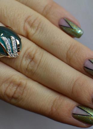 Кольцо из серебра с золотом